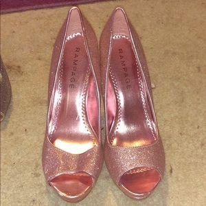 Rampage sparky pink heels worn once